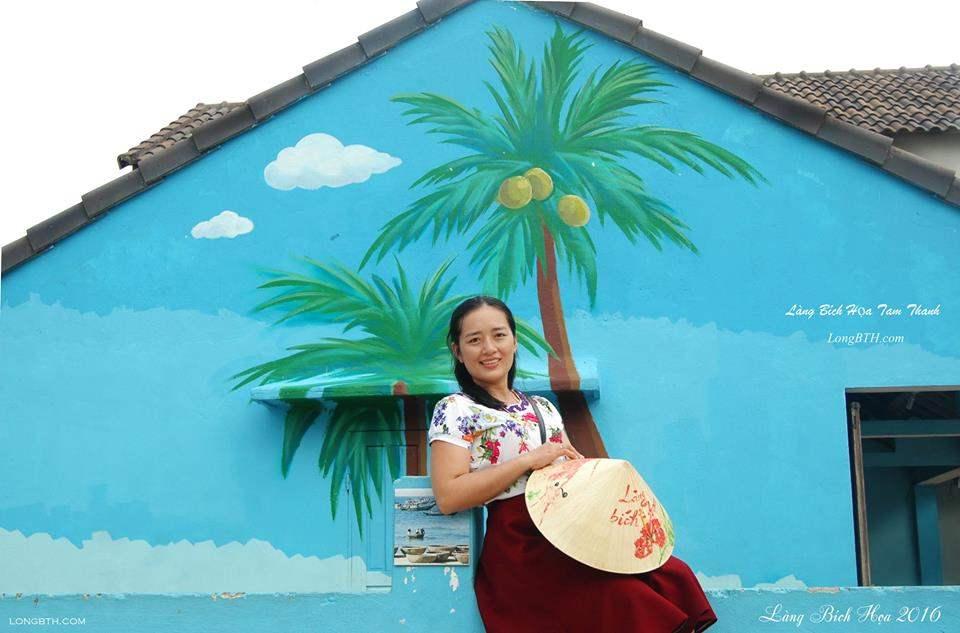 Một bức tranh trong làng tranh Bích Hoạ Tam Thanh