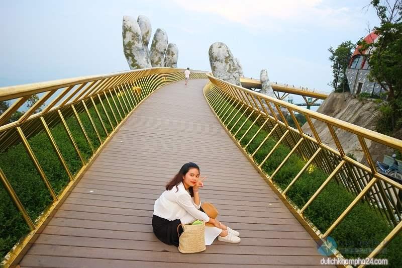 Du lịch Đà Nẵng có lẽ chưa có 1 ai bỏ qua điểm tham quan cầu Vàng
