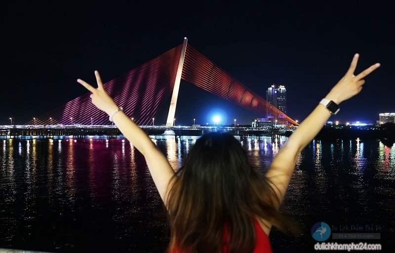 Hình ảnh đẹp nhẹ nhàng của cầu Trần Thị Lý Đà Nẵng
